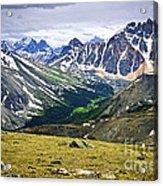 Rocky Mountains In Jasper National Park Acrylic Print by Elena Elisseeva