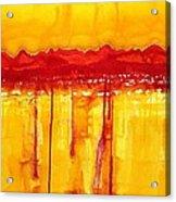 Rocky Mountains Original Painting Acrylic Print