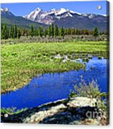 Rocky Mountains River Acrylic Print by Olivier Le Queinec