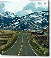 Rocky Mountains Road Acrylic Print