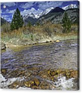 Rocky Mountains Acrylic Print by Tom Wilbert