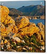 Rocky Point And Bixby Bridge Big Sur California Acrylic Print