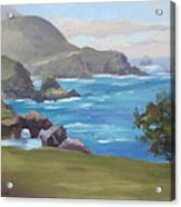 Rocky Point Big Sur Acrylic Print by Karin  Leonard