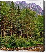 Rocky Shoreline Of Western Brook Pond In Gros Morne Nl Acrylic Print