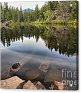 Rocky Shores At Swim Lake Acrylic Print