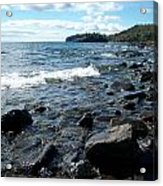 Rocky Shores Of Superior Acrylic Print