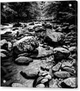 Rocky Smoky Mountain River Acrylic Print
