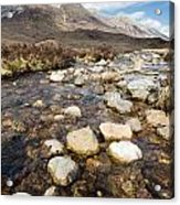 Rocky Stream From Beinn Eighe Acrylic Print