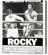 Rocky, Us Poster, Sylvester Stallone Acrylic Print