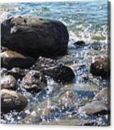 Rocky Waters Acrylic Print by Margaret McDermott