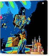 R P  And The Ufo At The Castle Made Of Sand Acrylic Print