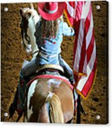 Rodeo America - Land Of The Free Acrylic Print