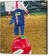 Rodeo Barrel Clown Acrylic Print