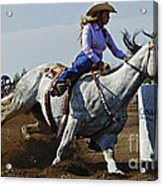 Rodeo Barrel Racer Acrylic Print