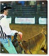 Rodeo Cowboy Referee Acrylic Print