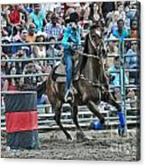 Rodeo Cowgirl Acrylic Print by Gary Keesler