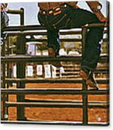 Rodeo Fence Sitters- Warm Toned Acrylic Print