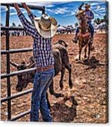 Rodeo Gate Keeper Acrylic Print