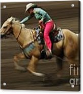 Rodeo Riding A Hurricane 2 Acrylic Print