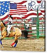 Rodeo Acrylic Print by Terry Cotton