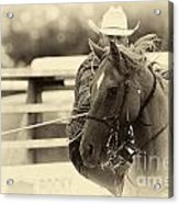 Rodeo The Cowboy Way Acrylic Print