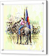 Rodeo Time In Colorado Acrylic Print