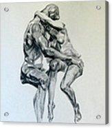 Rodin Kiss Acrylic Print