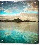 Rodney Bay Glow Acrylic Print