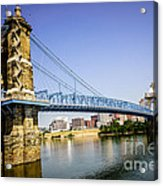 Roebling Bridge In Cincinnati Ohio Acrylic Print