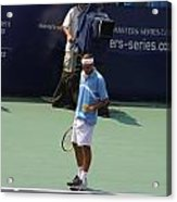 Roger Federer After 1st Slam Acrylic Print
