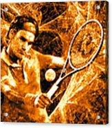 Roger Federer Clay Acrylic Print