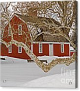 Roger Williams Cottage In Winter Acrylic Print