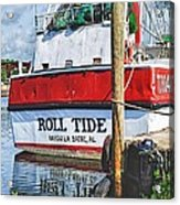 Roll Tide Stern Acrylic Print by Michael Thomas