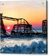 Roller Coaster After Sandy Acrylic Print by Tony Rubino