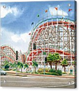 Roller Coaster Mission Beach Acrylic Print by Mary Helmreich