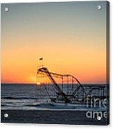Roller Coaster Sunrise Acrylic Print