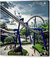 Rollercoaster Amusement Park Ride Acrylic Print