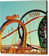 Rollercoaster At The Octoberfest In Munich Acrylic Print