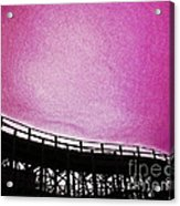 Rollercoaster In Pink Acrylic Print