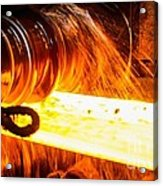 Rolling A Rail At A Steel Mill Acrylic Print