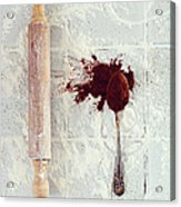 Rolling Pin, Teaspoon, Flour And Cocoa Acrylic Print