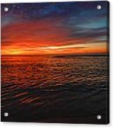 Rolling Sunrise Colors Acrylic Print