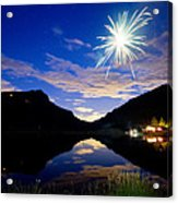 Rollinsville Yacht Club Fireworks Private Show 52 Acrylic Print