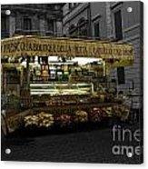 Roman Confectionary Cart Acrylic Print