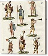 Roman Foot Soldiers Acrylic Print by Splendid Art Prints