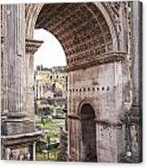 Roman Forum Arch Acrylic Print