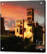 Roman Forum At Sunset Acrylic Print