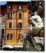 Roman Fountain  Acrylic Print by Natalya Karavay