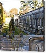 Roman Gardens In Fall Acrylic Print