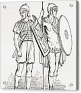 Roman Infantry Soldiers, After Figures On Trajans Column.  From The Imperial Bible Dictionary Acrylic Print